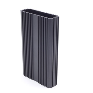 Aluminum extrusion shell for power supply heat sink