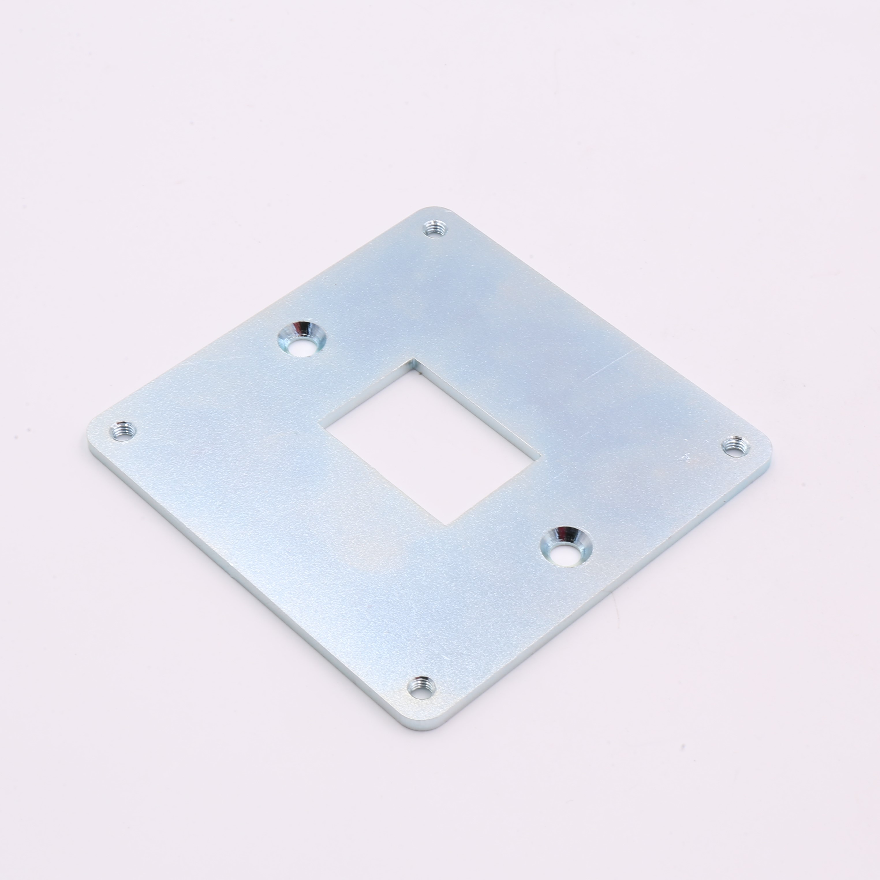 Steel with White-Blue Plated Metal Stamping Plate